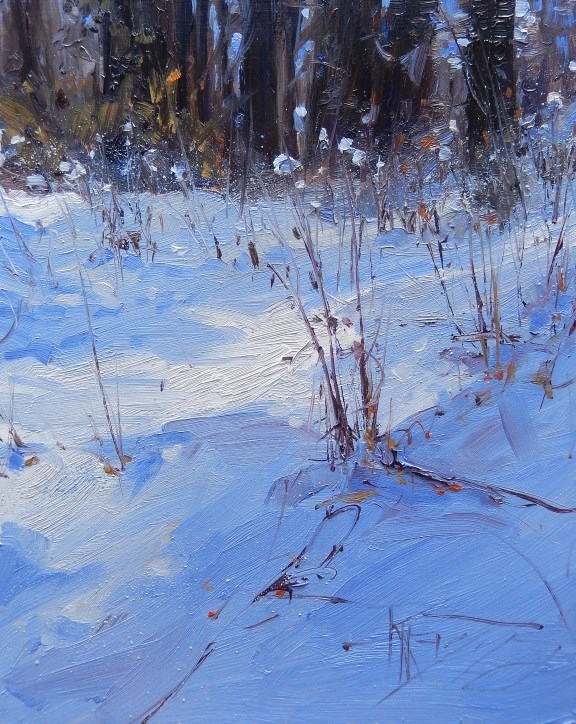 """Woodland Winter #2  winter, landscape painting by Robin Weiss"" original fine art by Robin Weiss"