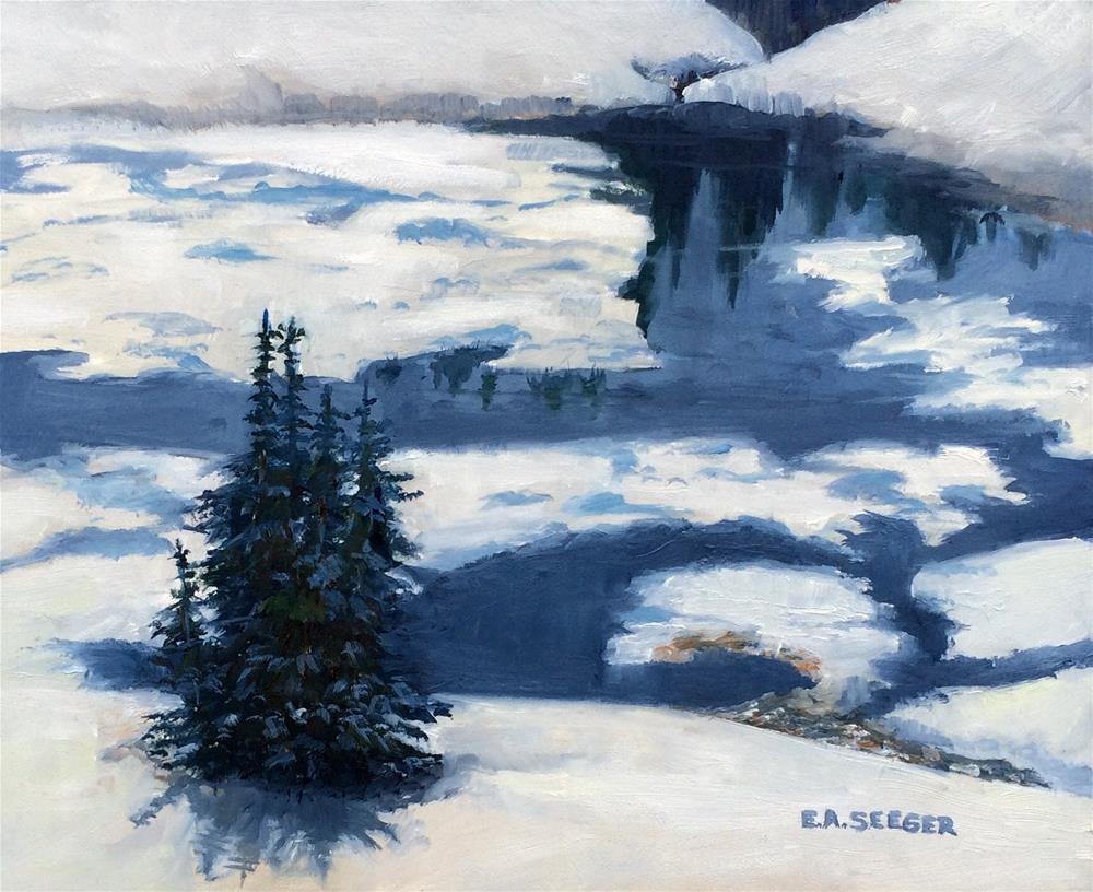 """Winter Blues"" original fine art by Elisabeth Seeger"