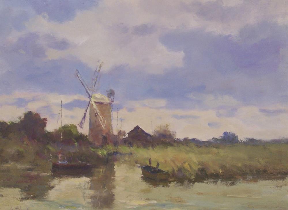 """Horsey Mill, Norfolk"" original fine art by John Shave"