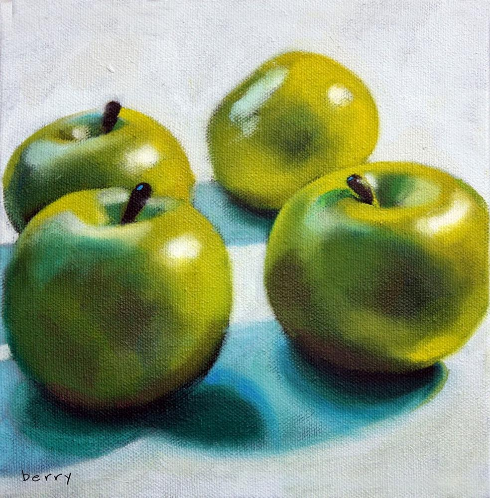 """GREEN APPLES"" original fine art by Suzanne Berry"