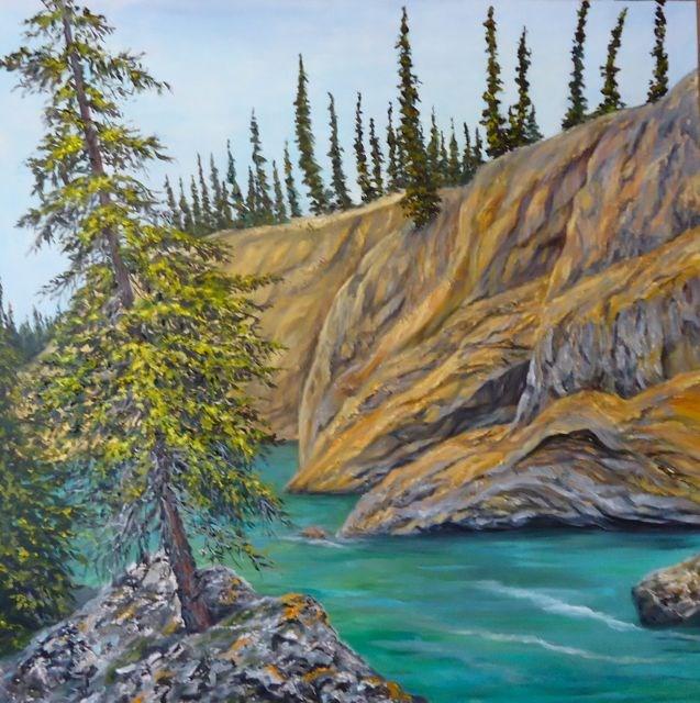 """""""Lapie Canyon, Yukon"""" original fine art by Jackie Irvine"""