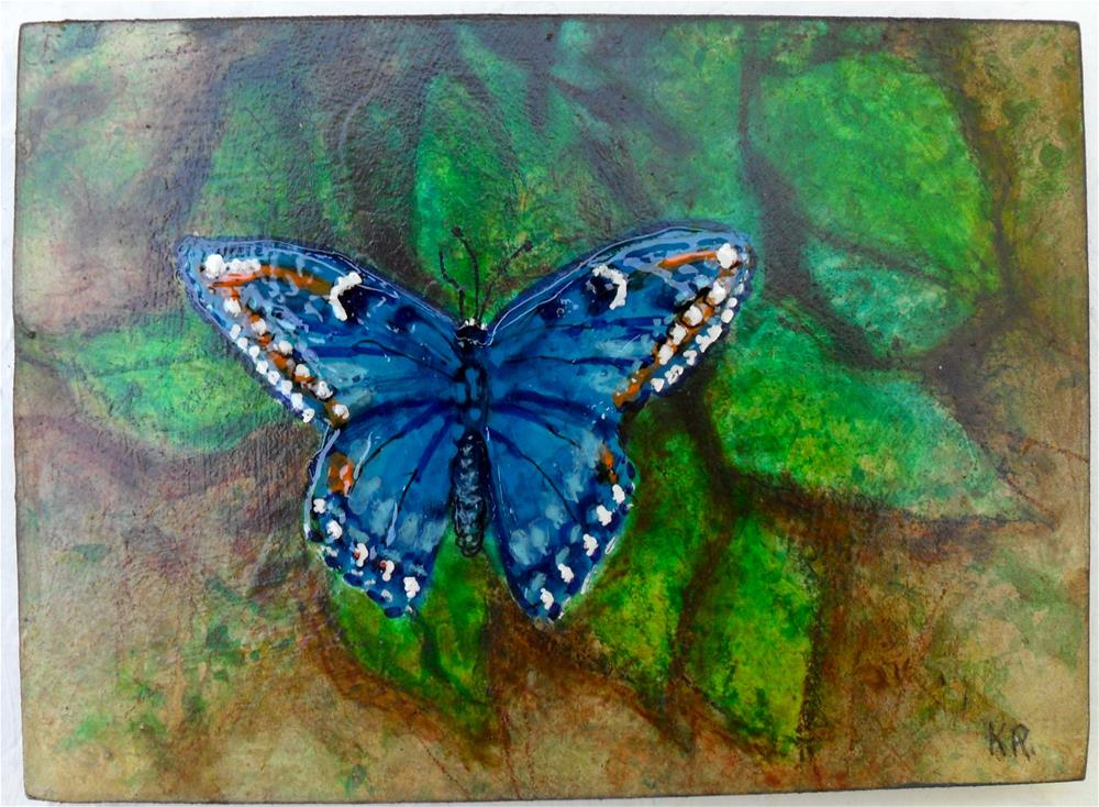 """Big Blue"" original fine art by Karen Roncari"