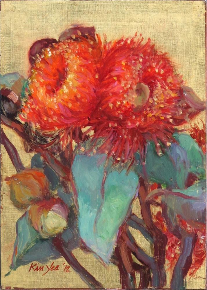 """""""Eucalyptus youngiana"""" original fine art by Myriam Kin-Yee"""