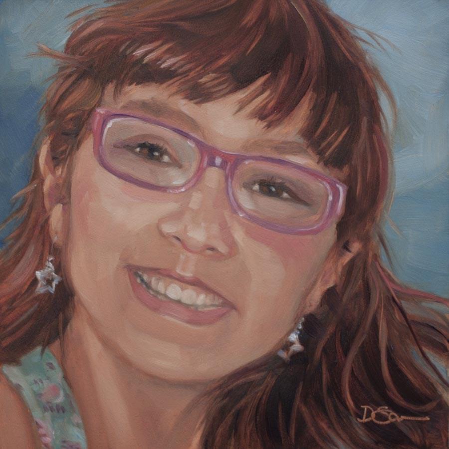 """Eyes of Love No.29 Tasha"" original fine art by Deborah Savo"