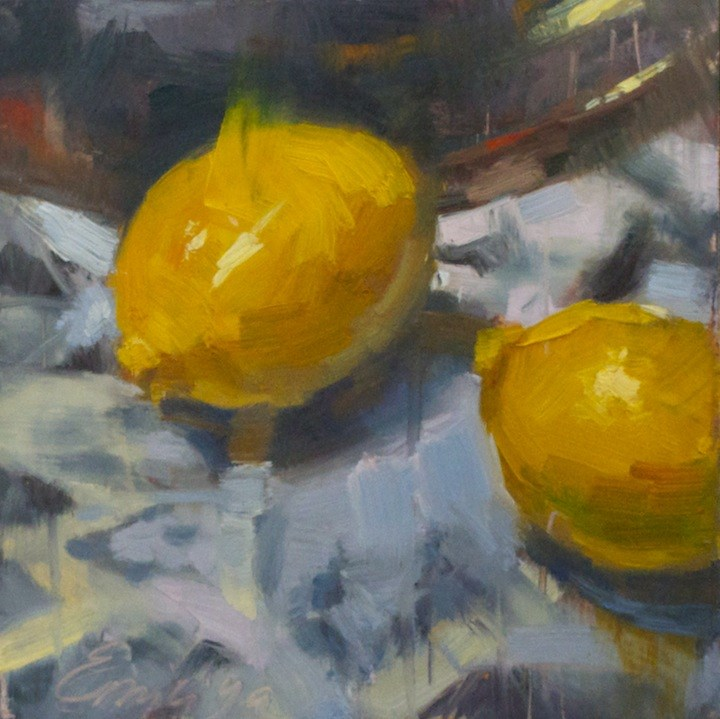 """Lemon Tango"" original fine art by Emiliya Lane"