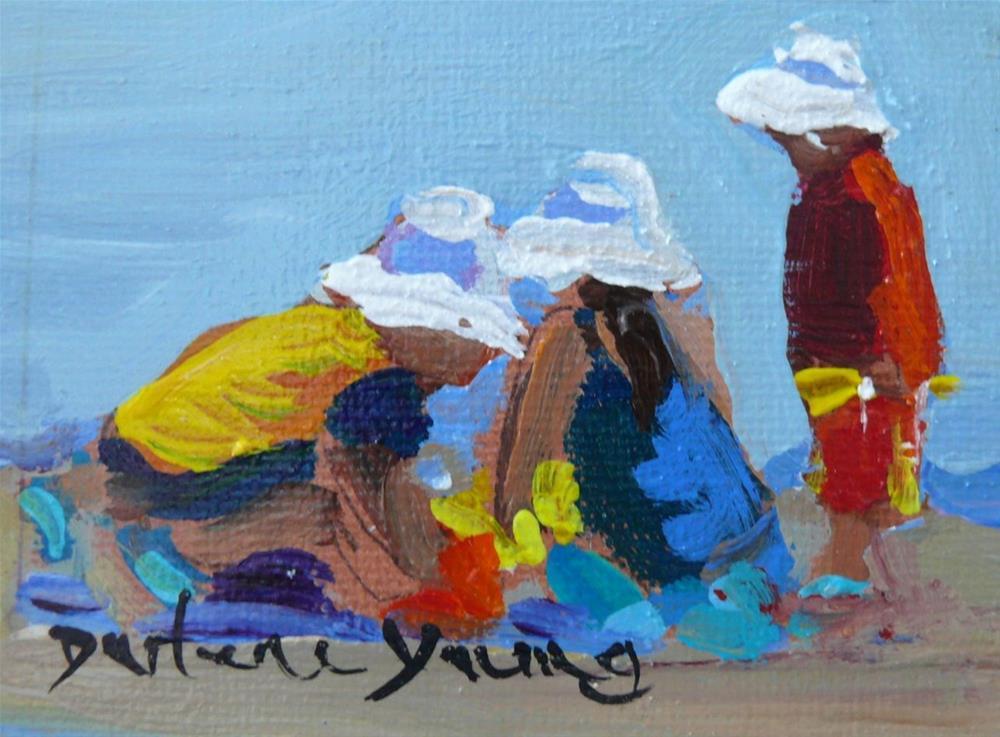 """865 Little Whitecaps, 2.5 x 3.5, oil on boardsold"" original fine art by Darlene Young"