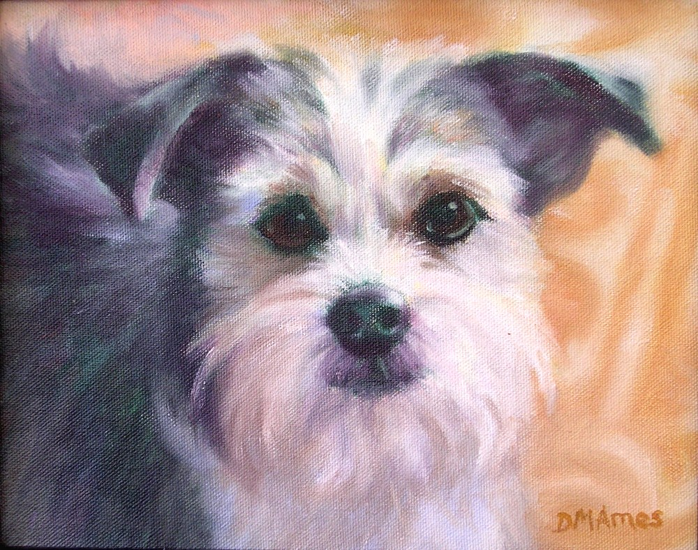 """Sammy"" original fine art by Debra Ames"