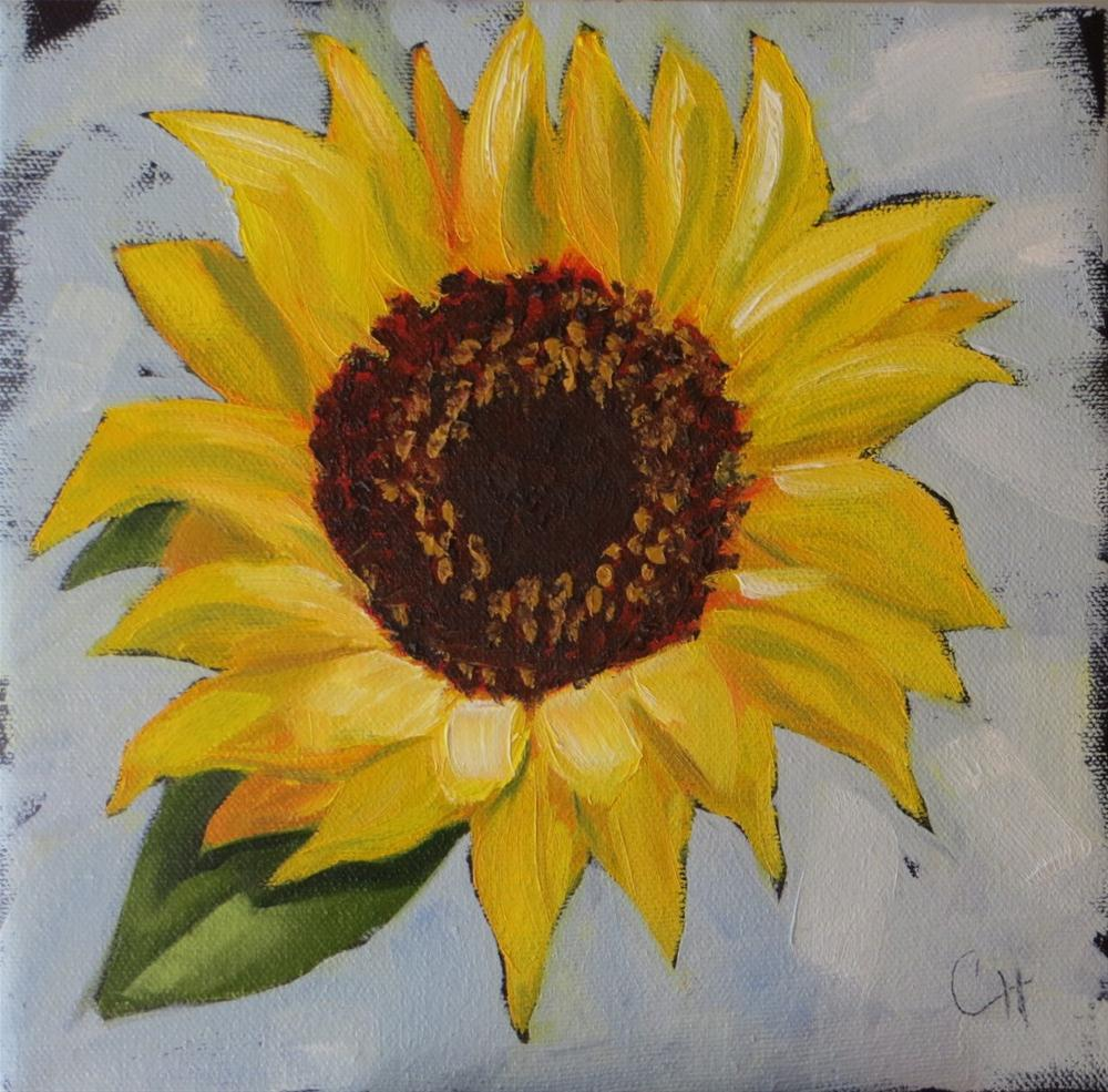 """""""Sunflower no. 2"""" original fine art by Claire Henning"""