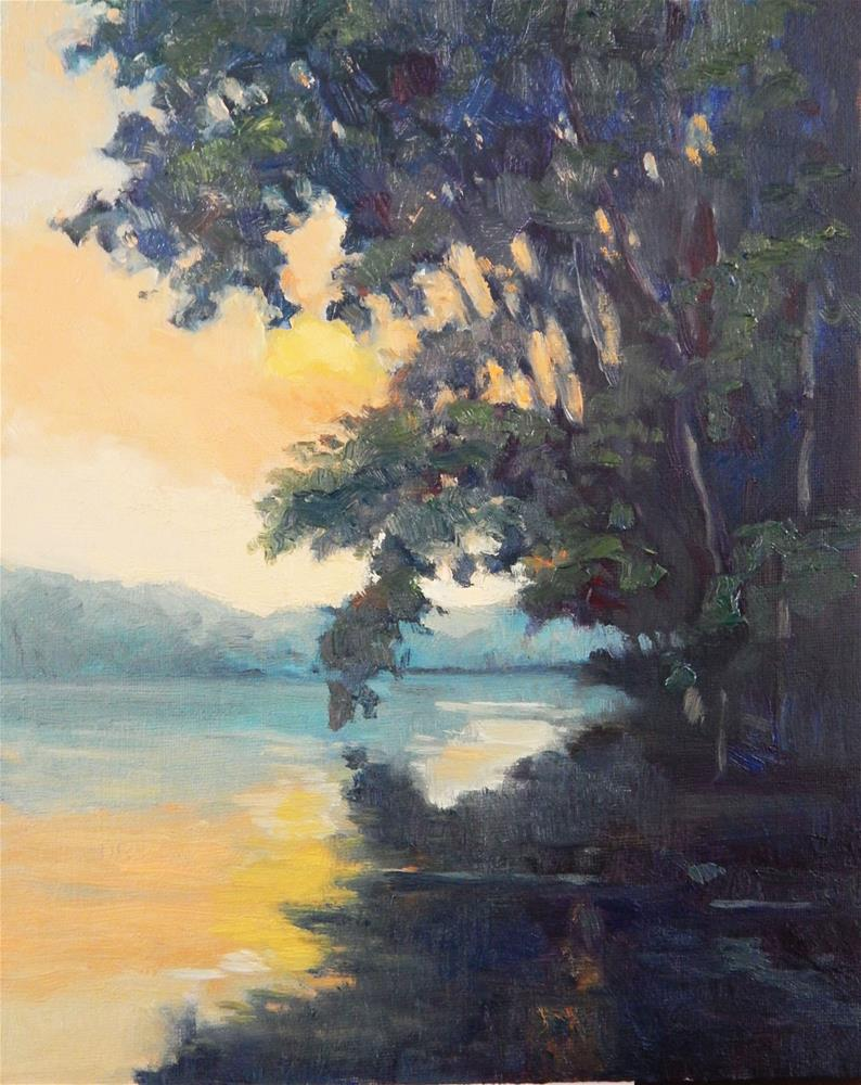 """""""At the River's Edge"""" original fine art by Lisa Kyle"""