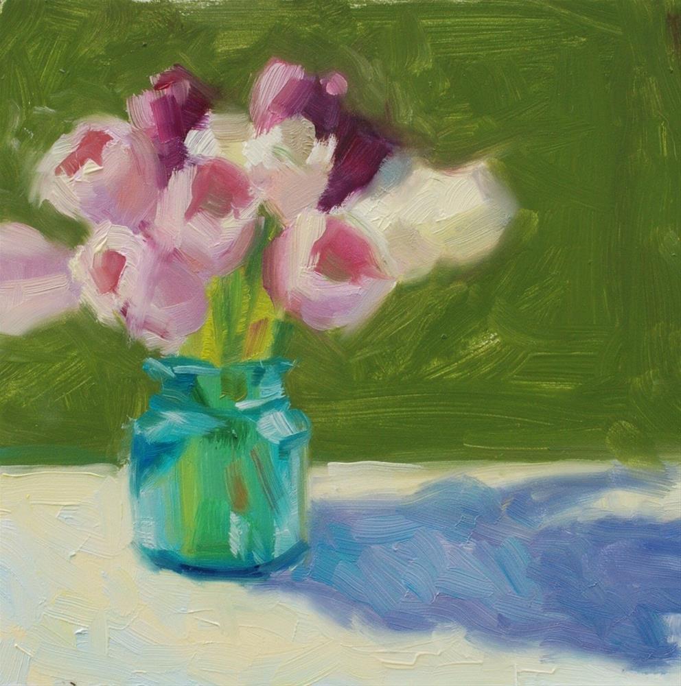 """""""No. 602 Tulips Alfresco"""" original fine art by Susan McManamen"""