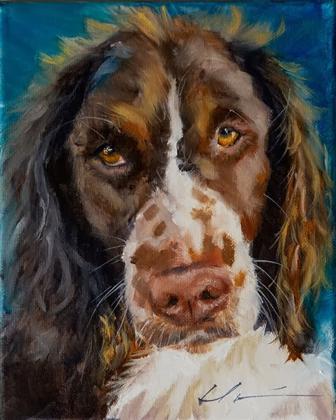 """Roscoe"" original fine art by Clair Hartmann"