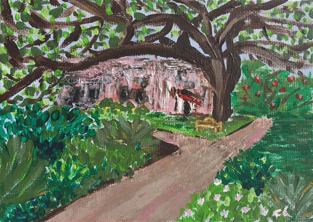 """Alamo insider"" original fine art by Cheree Apalona Lueck"