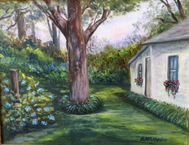 """""""Potting Shed"""" original fine art by Barbara Whitmire"""