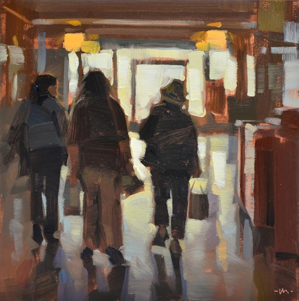 """Girls Day Out"" original fine art by Carol Marine"