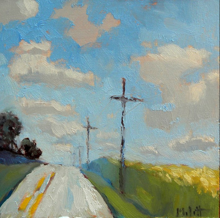 """Country Landscape from the archives original oil paintings"" original fine art by Heidi Malott"