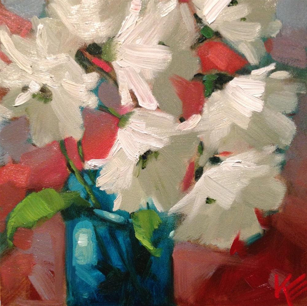 """Daisies in motion"" original fine art by Krista Eaton"