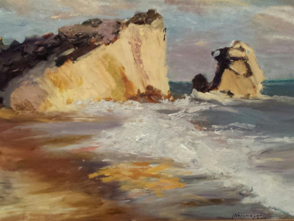 """""""Canon Beach"""" original fine art by Pamela Wedemeyer"""