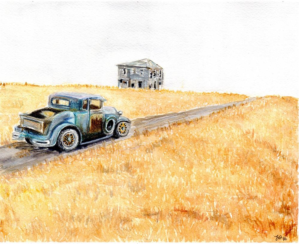 """Blitzen Glory Days"" original fine art by Laura Denning"