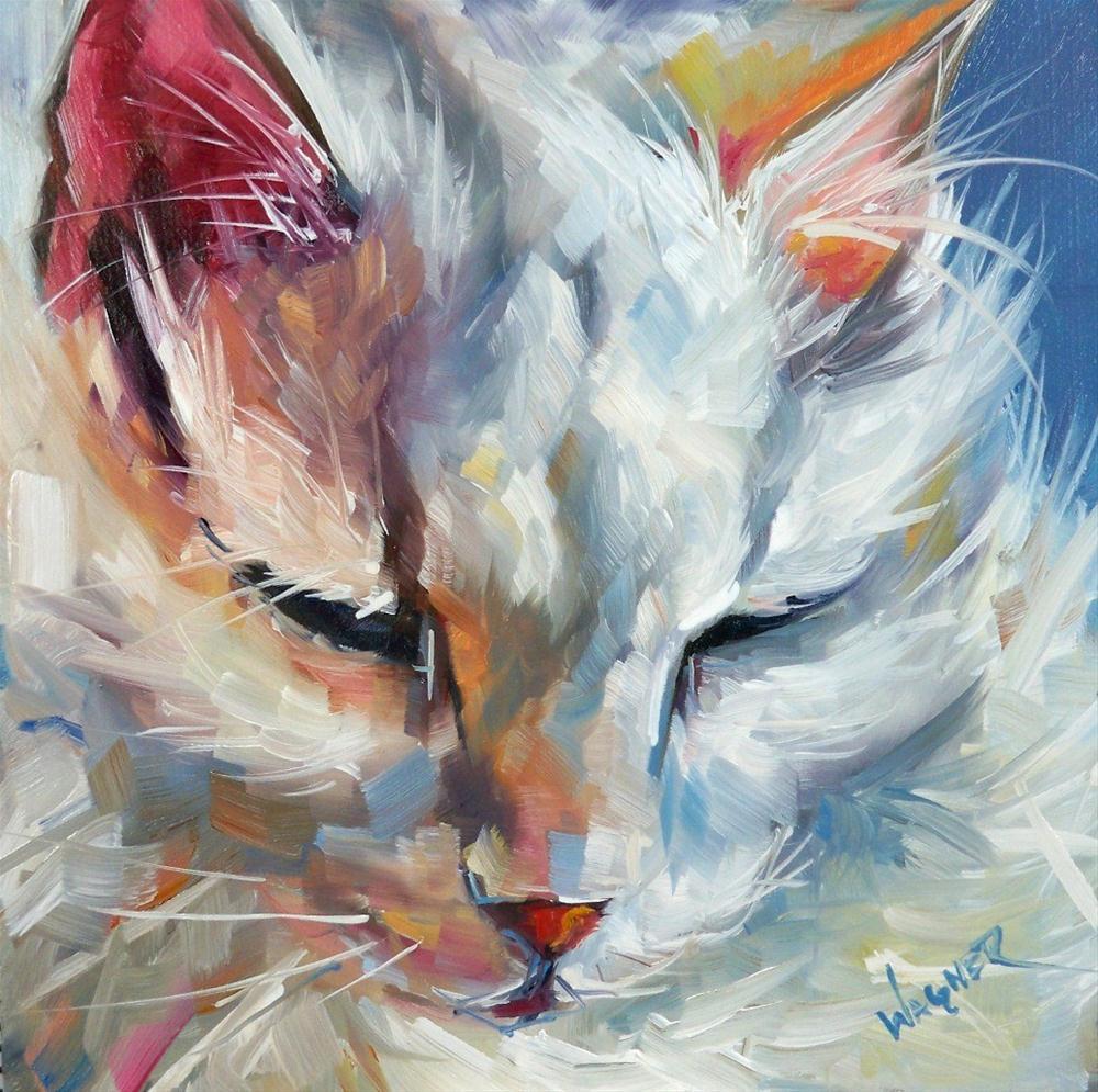 """White Cloud"" original fine art by Olga Wagner"