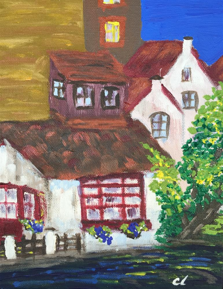 """Brugge Cottage"" original fine art by Cheree Apalona Lueck"