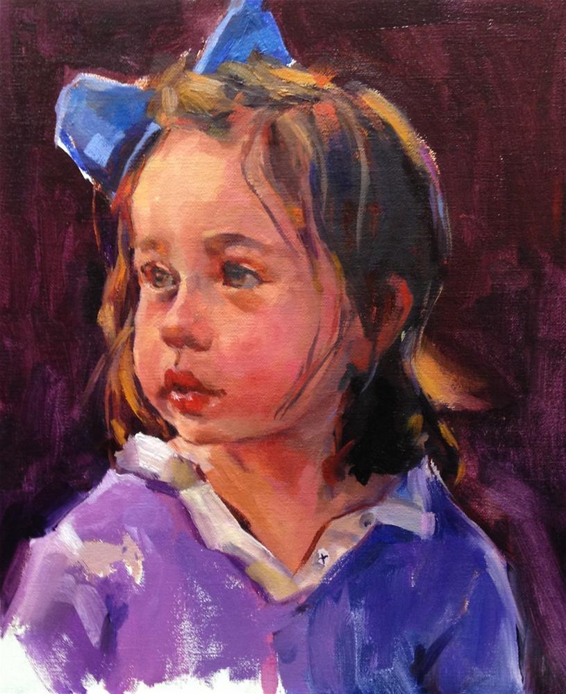 """Princess Pia"" original fine art by Laurie Johnson Lepkowska"