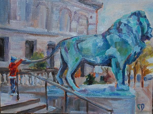 """A Different Point of View"" original fine art by Carol DeMumbrum"