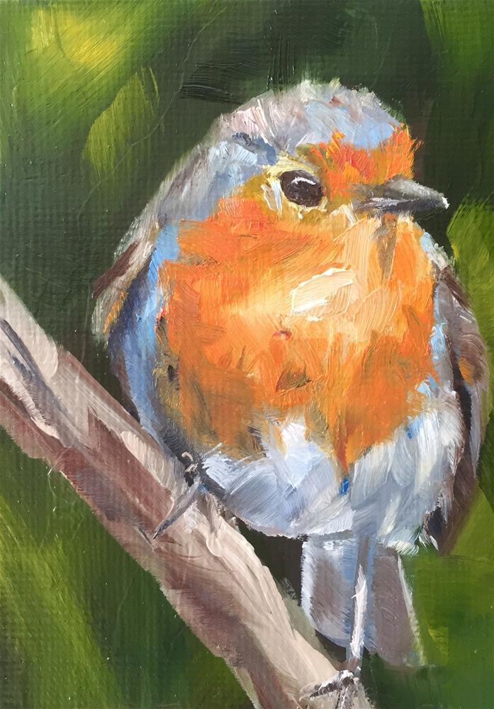 """European Robin"" original fine art by Gary Bruton"