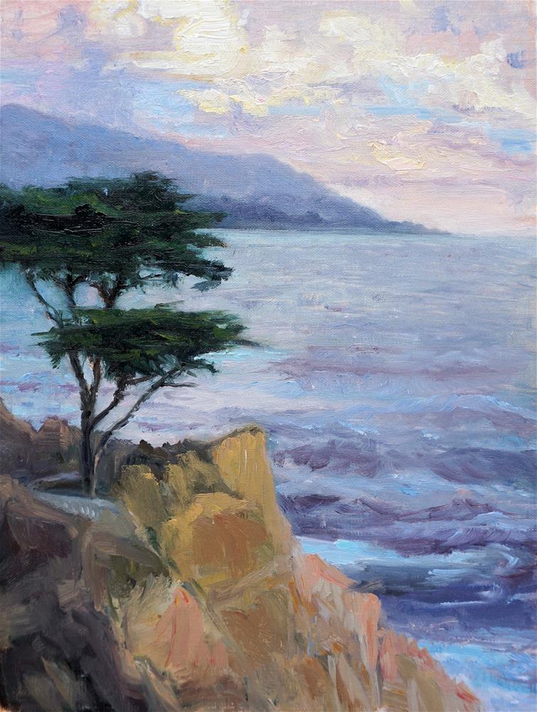 """Sunset At Lone Pine"" original fine art by Patricia Matranga"