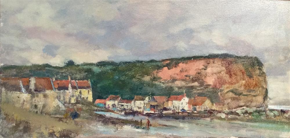 """Staithes Harbour"" original fine art by John Shave"
