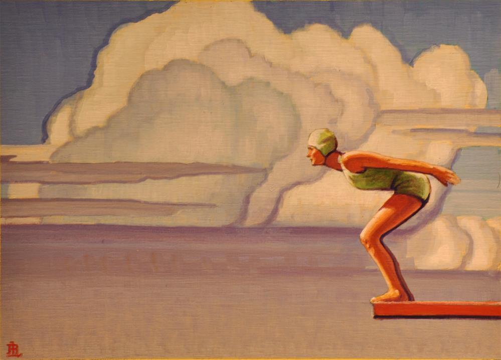 """""""High Dive"""" original fine art by Robert LaDuke"""