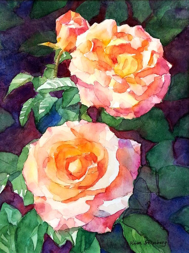 """Rose Glamour"" original fine art by Kim Stenberg"