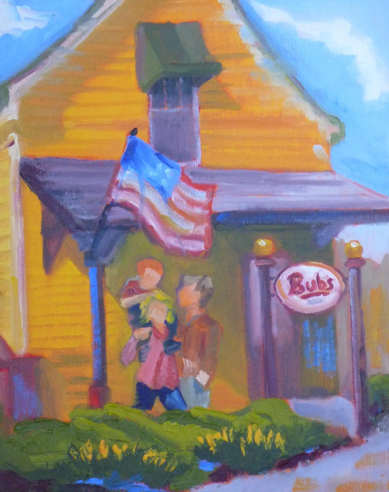 """""""Bub's Burgers"""" original fine art by Shawn Deitch"""