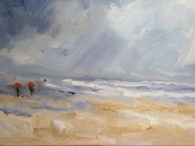 """Coastal Rain"" original fine art by Astrid Buchhammer"