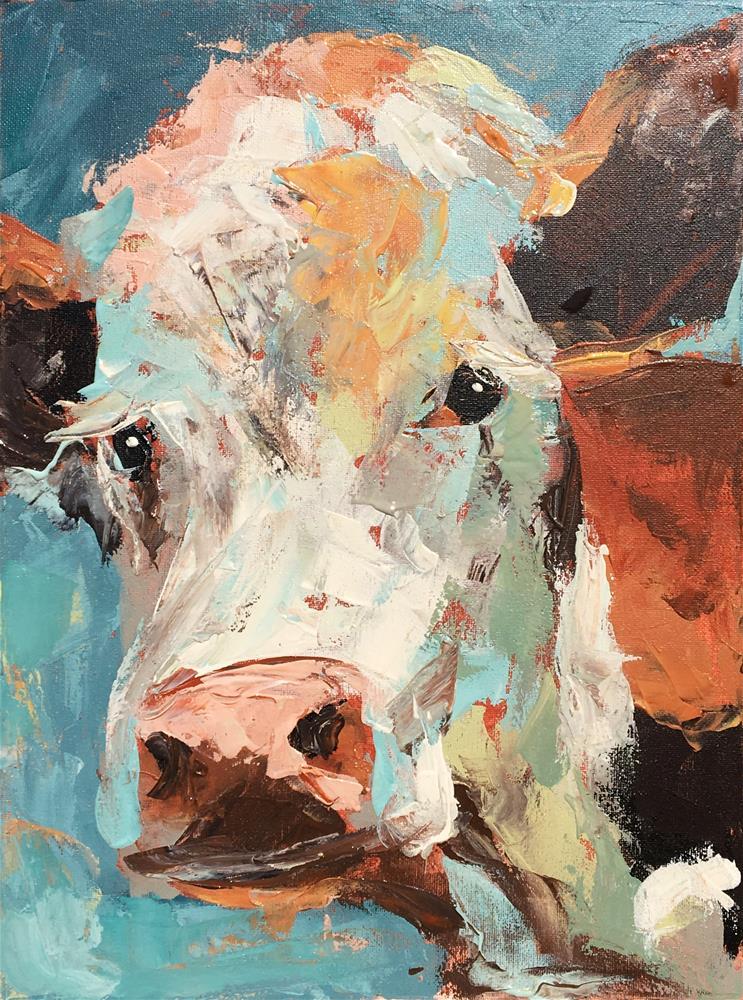 """Ima Bovine"" original fine art by Susan Elizabeth Jones"