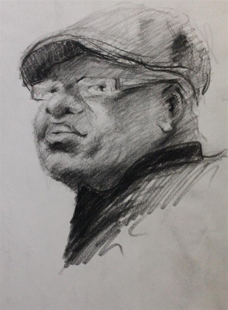 """""""Portrait sketch"""" original fine art by Marco Vazquez"""