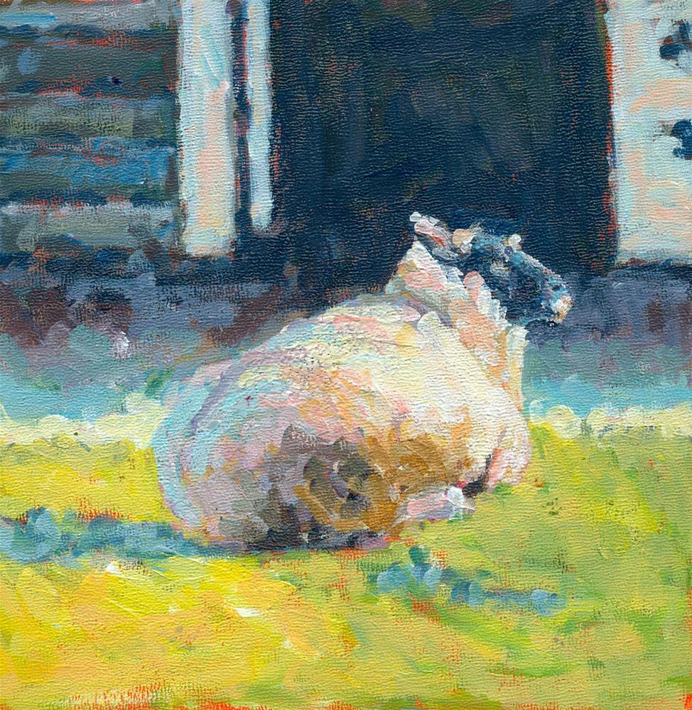 """right here"" original fine art by Shelley Garries"