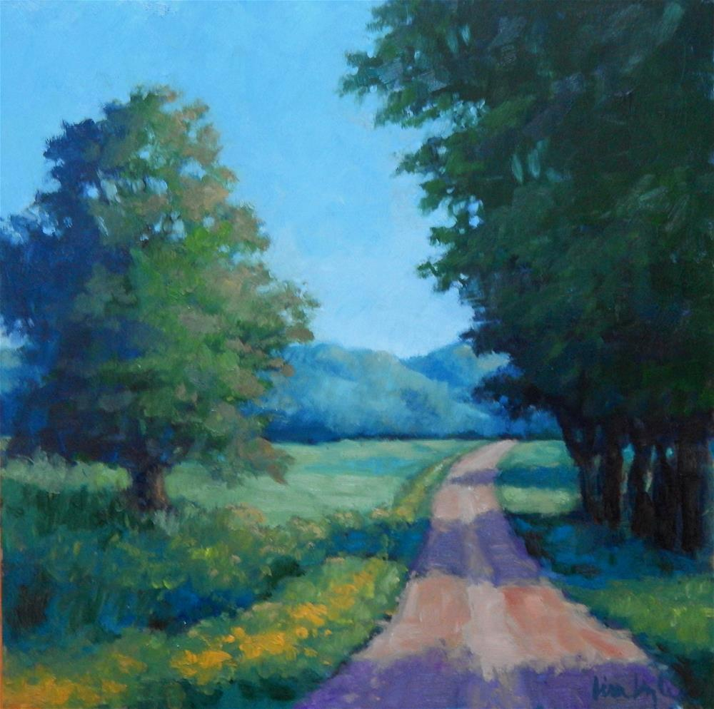 """A Road in Summer"" original fine art by Lisa Kyle"