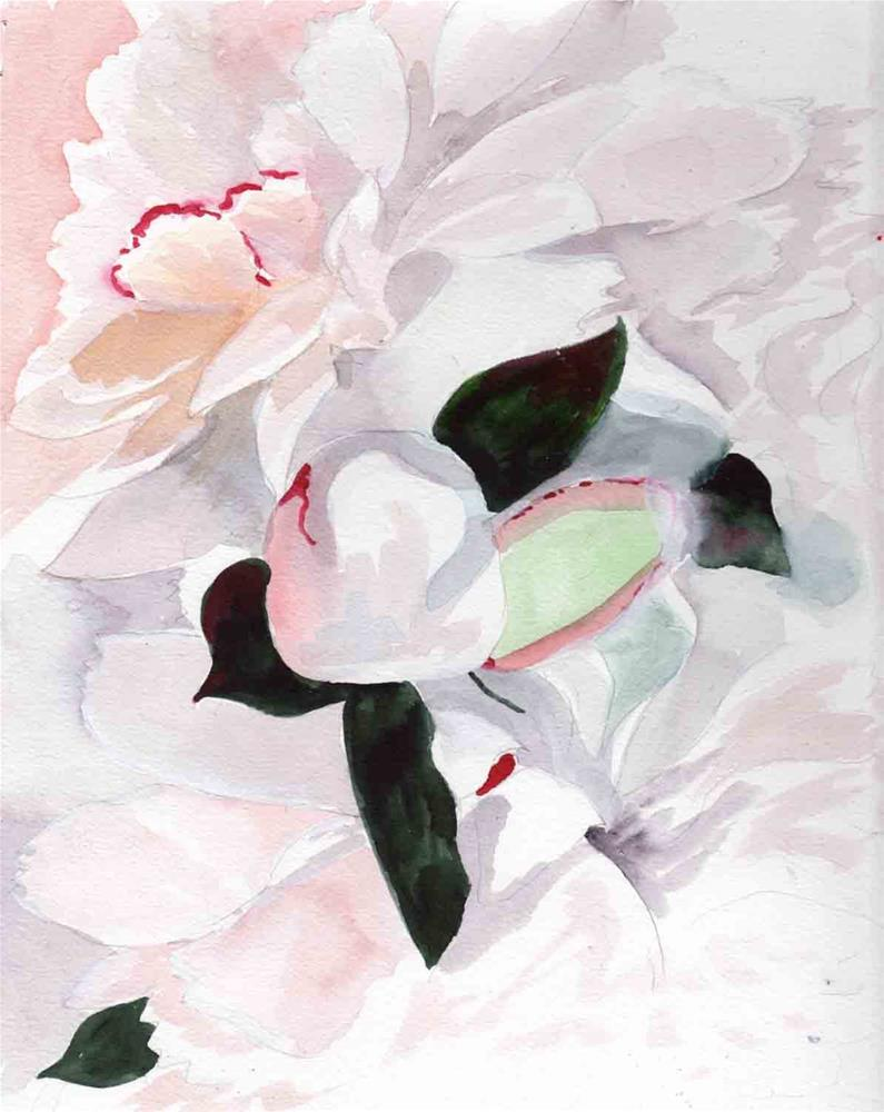 """Peonies"" original fine art by Bunny Griffeth"