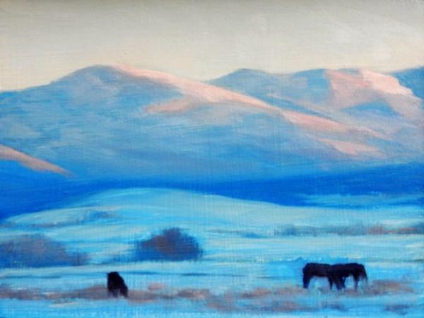 """Valley Grazing"" original fine art by Carolyn Caldwell"