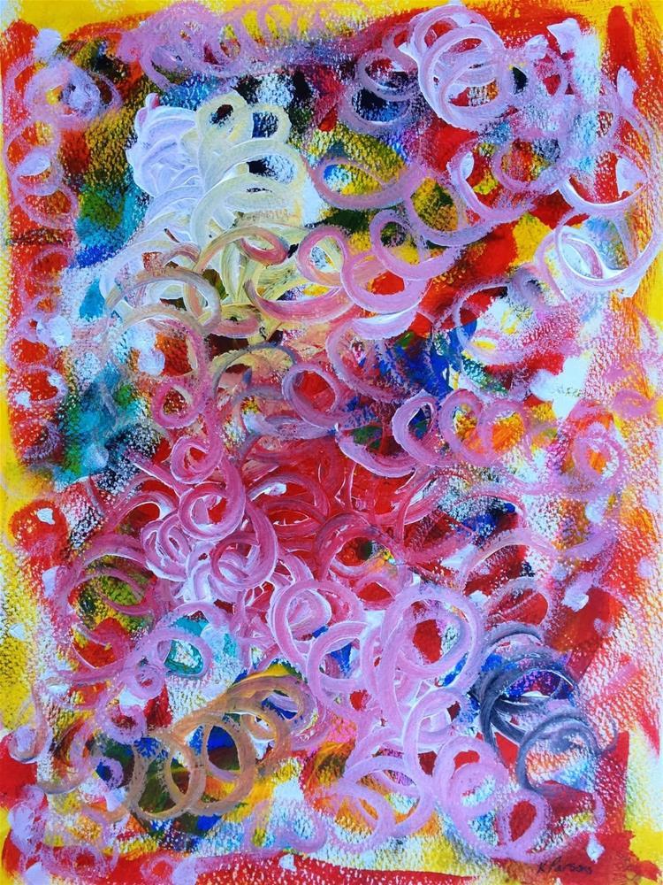 """All Aswirl"" original fine art by Kali Parsons"