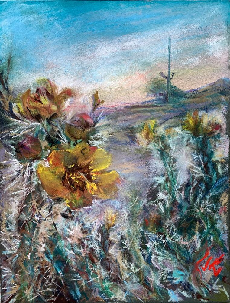 """""""Buckthorn Cholla"""" original fine art by Jean Krueger"""