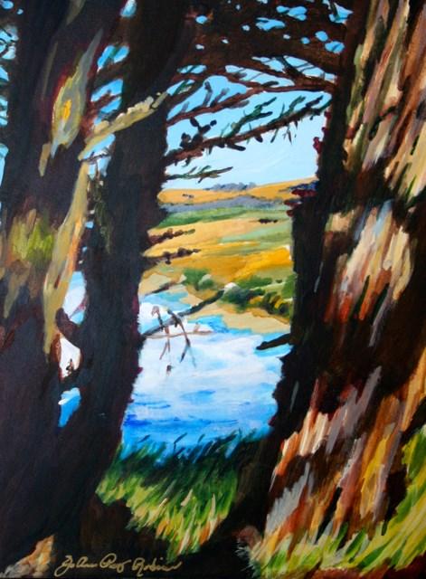 """Between the Lines"" original fine art by JoAnne Perez Robinson"