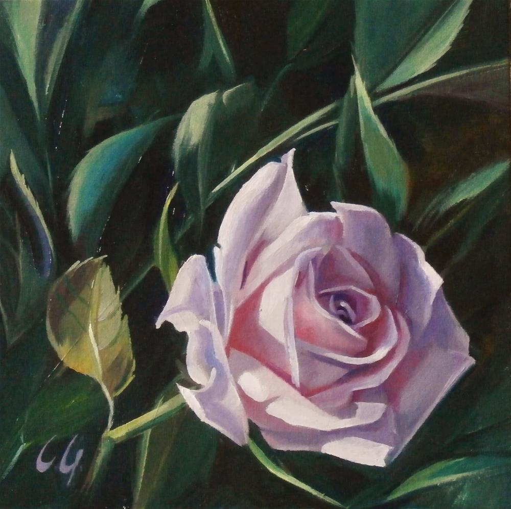 """Low Hanging Rose"" original fine art by Carla Gauthier"
