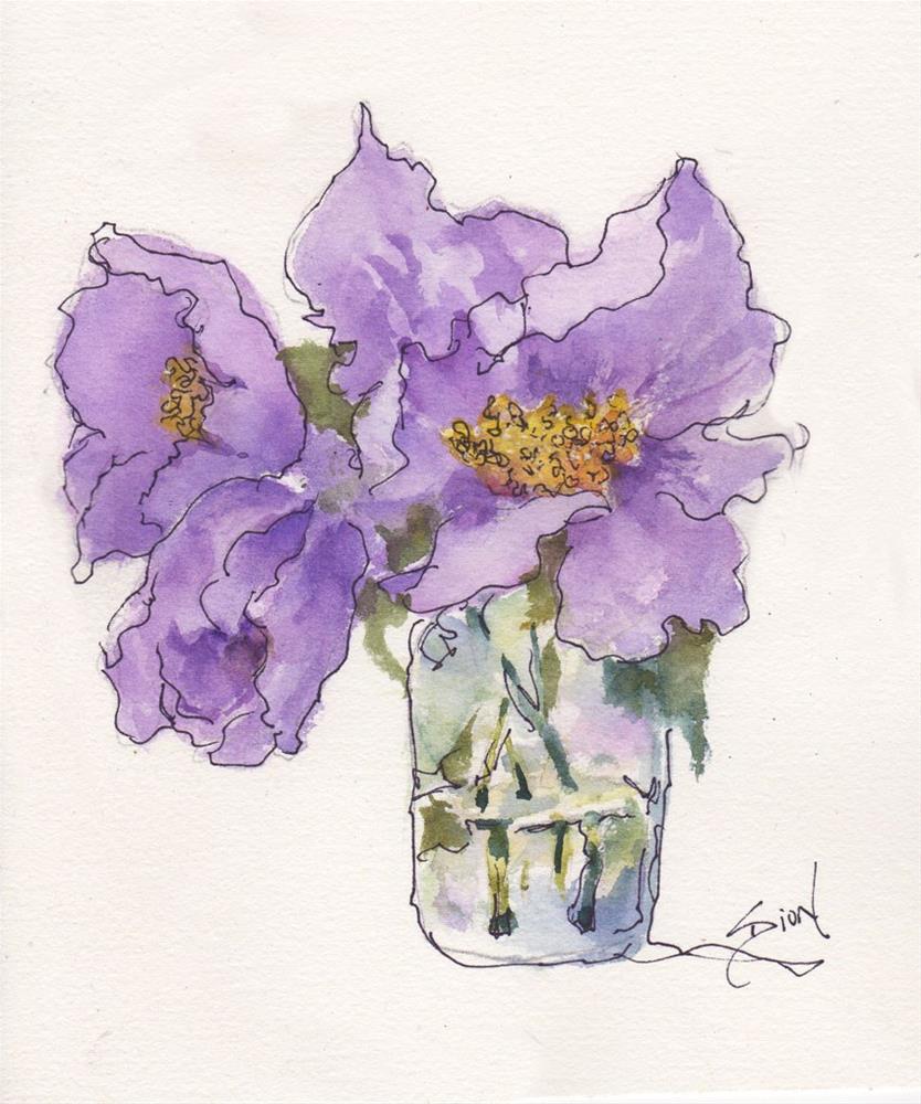 """""""In Violets"""" original fine art by Sue Dion"""