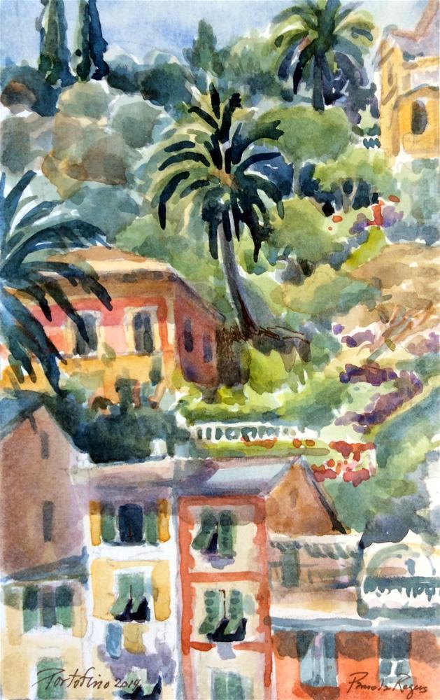 """Portofino Afternoon"" original fine art by Pamela Jane Rogers"