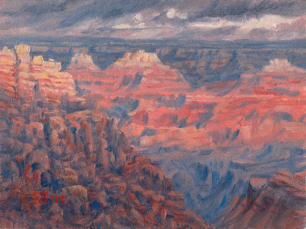 """C1501 Grand Canyon Morning"" original fine art by Steven Thor Johanneson"