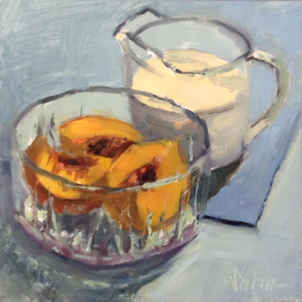 """Peaches and Cream"" original fine art by Barbie Smith"