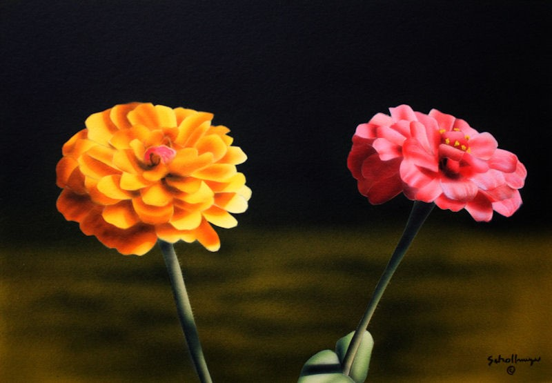 """""""Two of a Kind"""" original fine art by Fred Schollmeyer"""