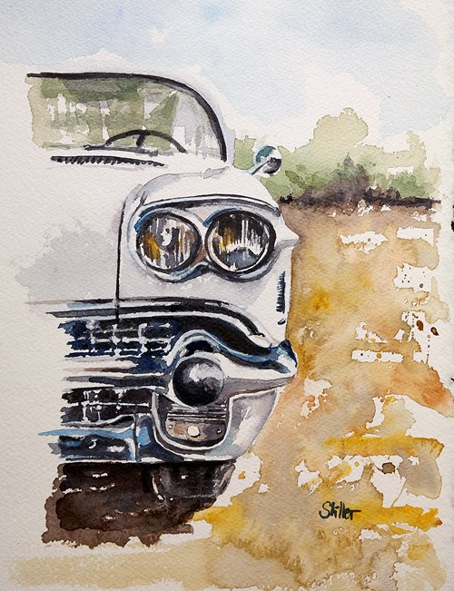 """2328 Cadillac Fifty-Eight"" original fine art by Dietmar Stiller"