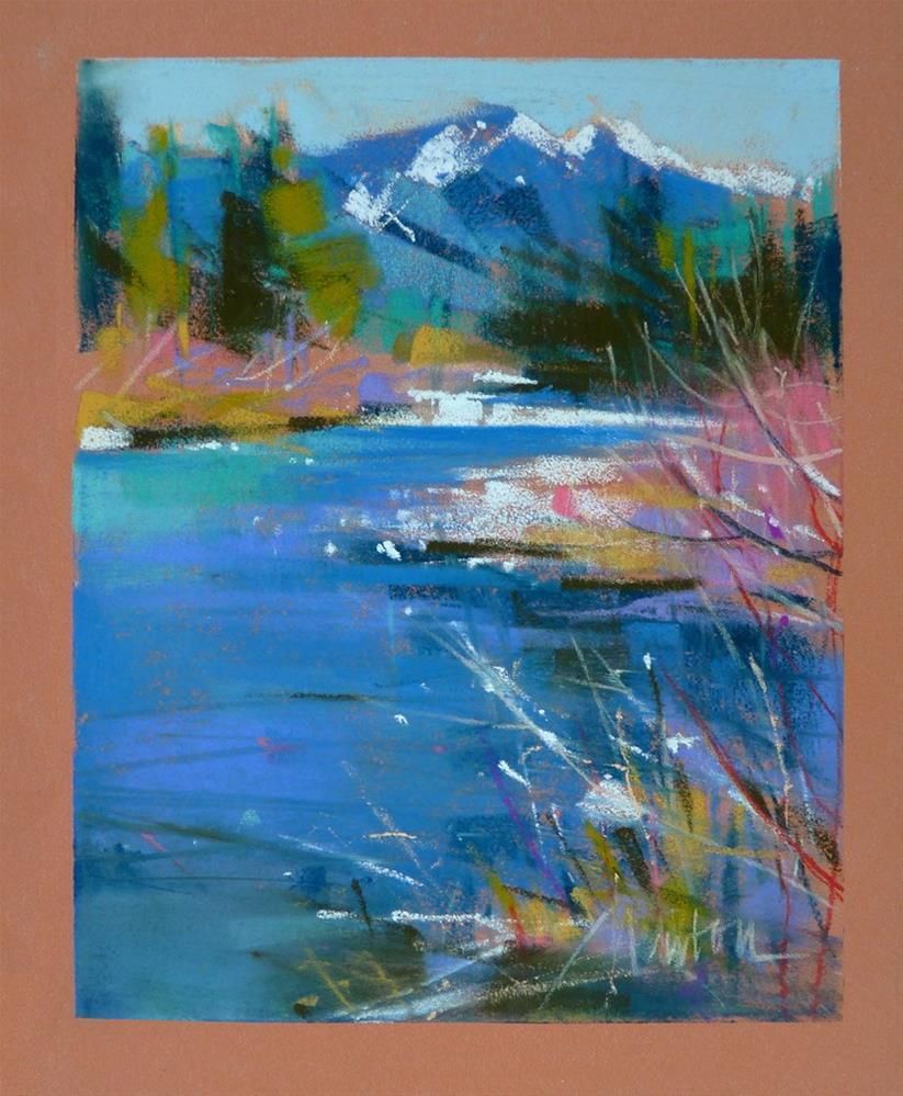 """Study - Gold Creek Spring Thaw"" original fine art by Barbara Benedetti Newton"